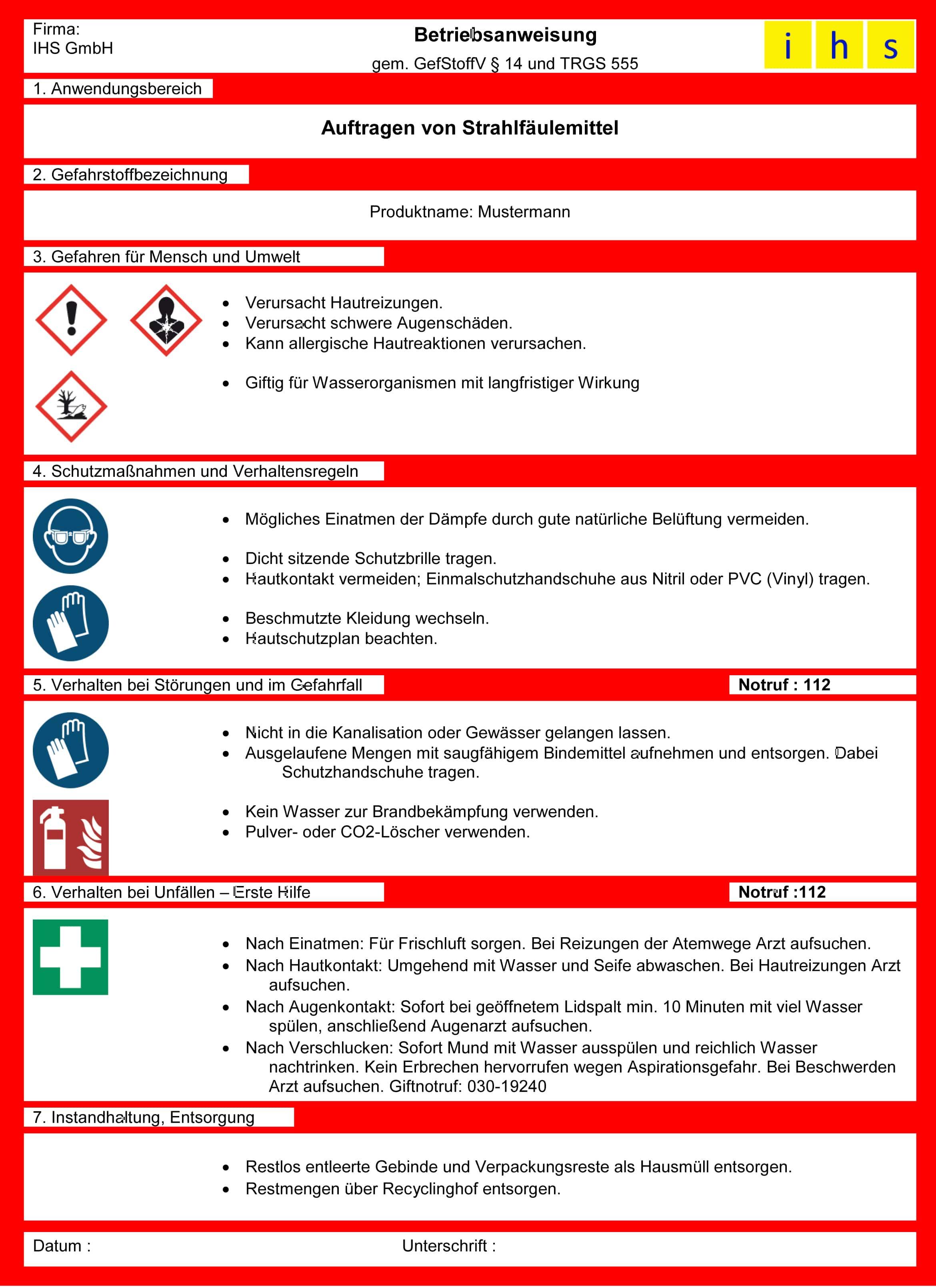 Betriebsanweisung Gefahrstoffe20